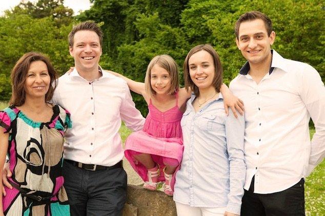 Familienfoto der Familie Braun