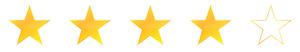 4 Sterne Bewertung für unsere Hausnotruf-Vermittlung