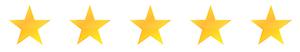 5 Sterne Bewertung für unsere Hausnotruf-Vermittlung