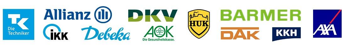 Logos von Pflegekassen